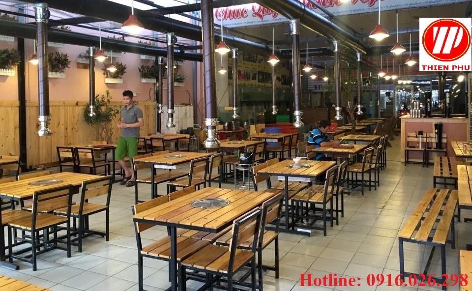 Không gian nhà hàng lẩu nướng không khói tại bàn hút dương