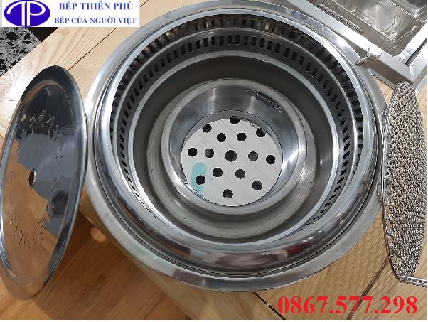 Bếp lẩu nướng hút âm giá rẻ HA01, Bếp lẩu nướng than hoa hút âm HA01