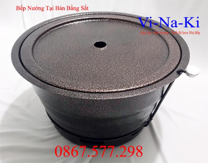 bếp nướng tại bàn bằng sắt