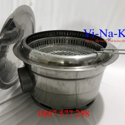 bếp nướng thịt tại bàn hút khói âm bàn