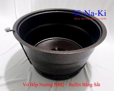 vỏ bếp nướng bbq buffet bằng sắt