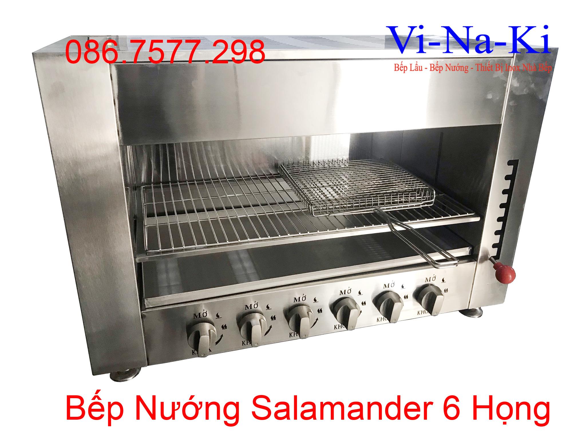 bếp nướng salamander 6 họng gas