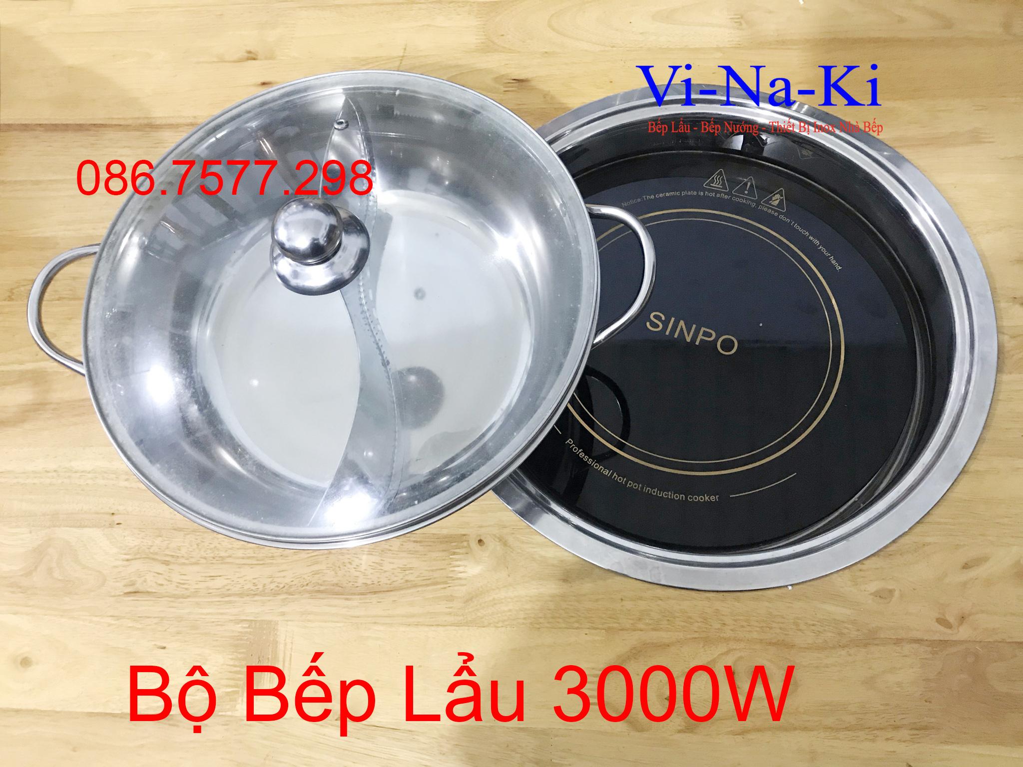 bộ bếp lẩu 3000w