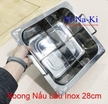 xoong nấu lẩu inox 28cm